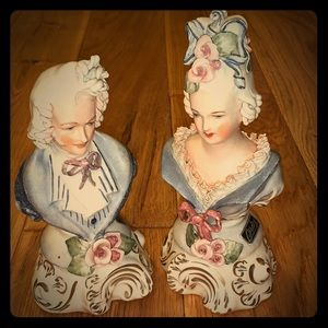 Vintage Gentleman & Lady Gordey figurines